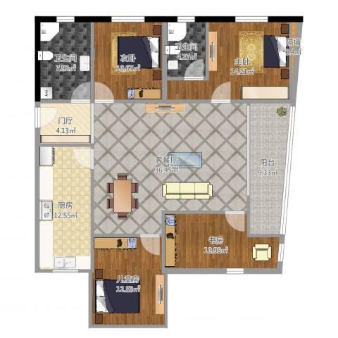安亭新镇颂苑4室2厅2卫1厨154.00㎡户型图