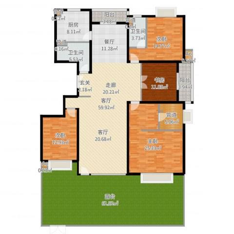 中建群贤汇4室1厅2卫1厨271.00㎡户型图