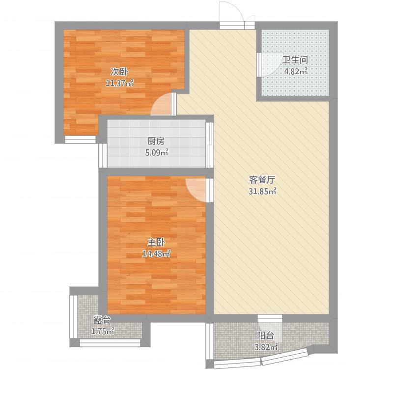 阳光金水湾99.92两室两厅一厨一卫