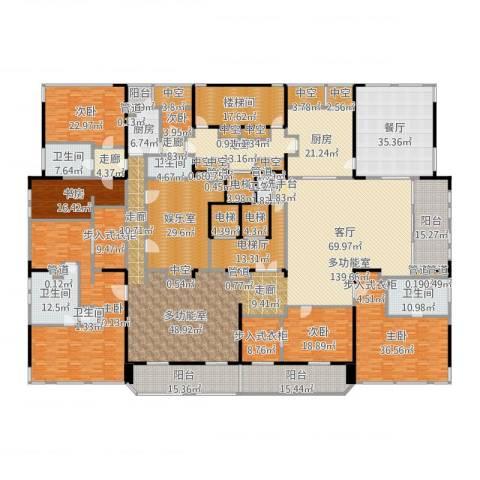 黄浦滩名苑6室1厅6卫2厨710.00㎡户型图
