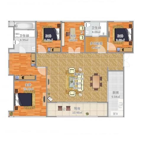 万科珠宾花园4室2厅2卫1厨137.00㎡户型图