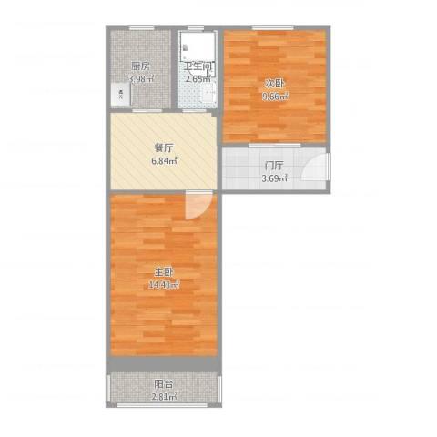 古城环卫楼22室1厅1卫1厨55.00㎡户型图