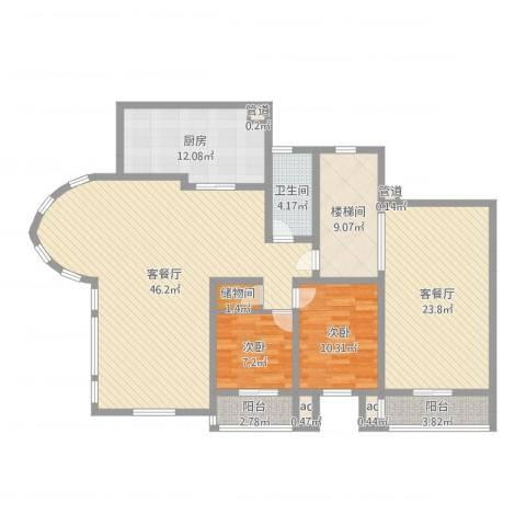 御水豪庭2室4厅1卫1厨153.00㎡户型图