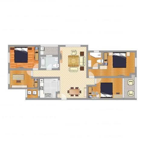龙湖香醍漫步别墅1室1厅1卫1厨137.00㎡户型图