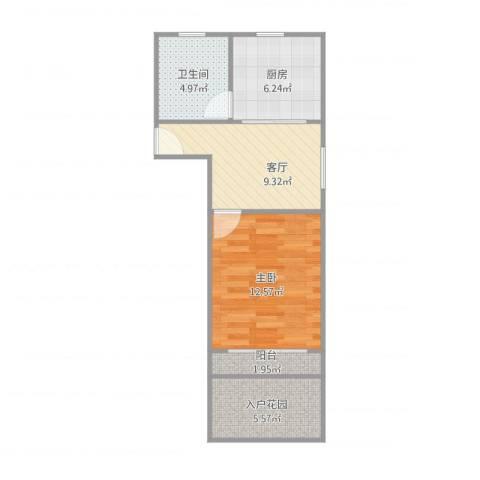 由由七村108弄1室1厅1卫1厨56.00㎡户型图