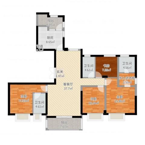 ART蓝山4室2厅3卫1厨178.00㎡户型图