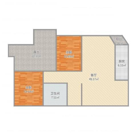 王家坝街B42室1厅1卫1厨141.00㎡户型图