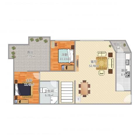 王家坝街B42室1厅1卫1厨148.00㎡户型图