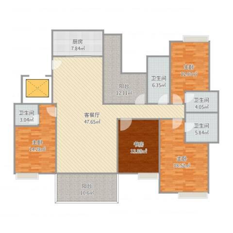 远洋城万象花园4室2厅4卫1厨211.00㎡户型图
