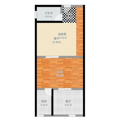 未来石1室1厅1卫1厨72.00㎡户型图