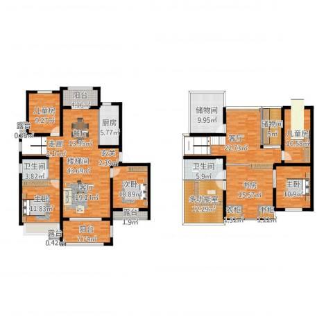 澳海澜庭6室1厅2卫1厨244.00㎡户型图