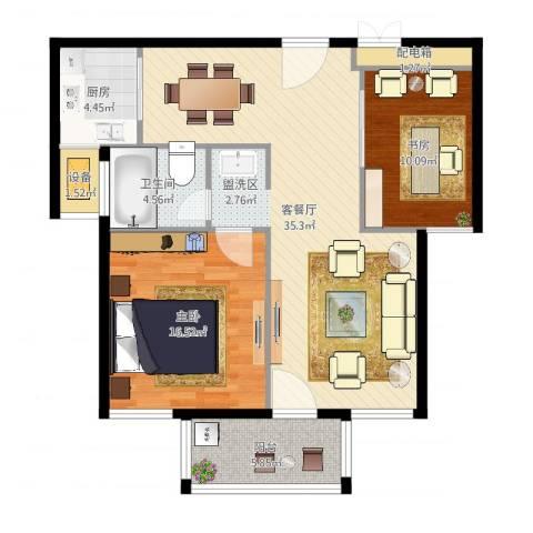 嘉悦景苑2室2厅1卫1厨99.00㎡户型图