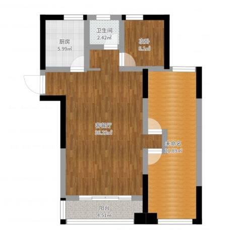 民生・瞰江郡1室2厅1卫1厨115.00㎡户型图