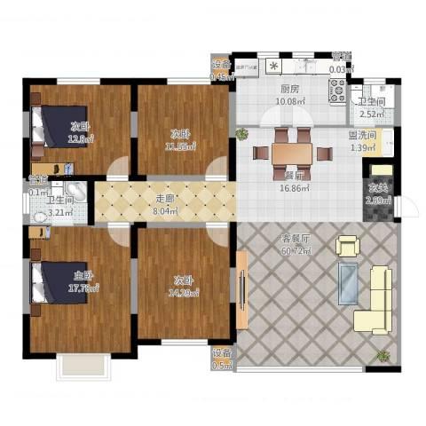建发滨湖家园4室2厅2卫1厨168.00㎡户型图