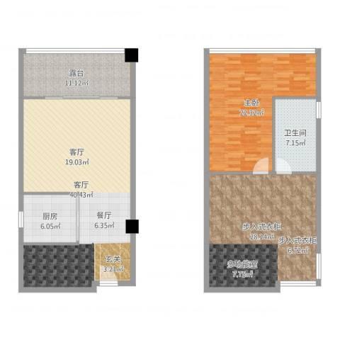 领汇乐城1室1厅1卫1厨144.00㎡户型图
