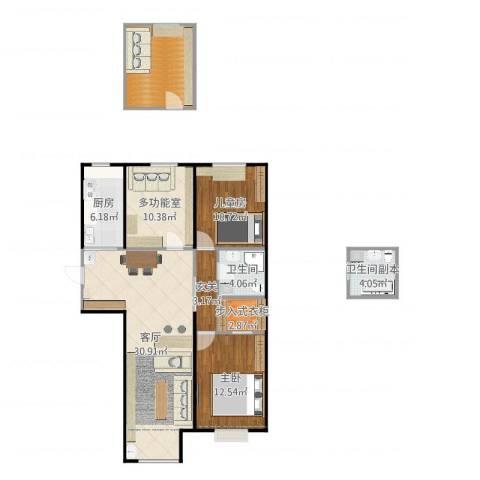 太阳城2室1厅1卫1厨119.00㎡户型图