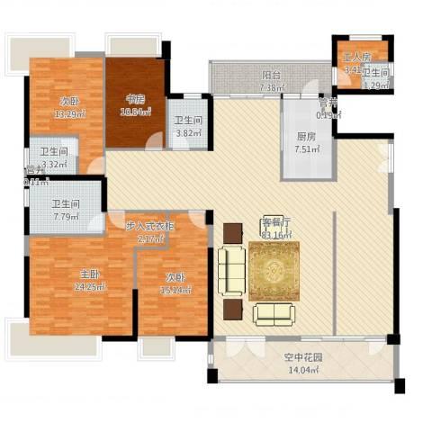 黄旗山1号4室2厅4卫1厨244.00㎡户型图