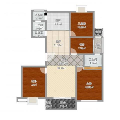 雍景湾大公馆4室3厅2卫1厨143.00㎡户型图
