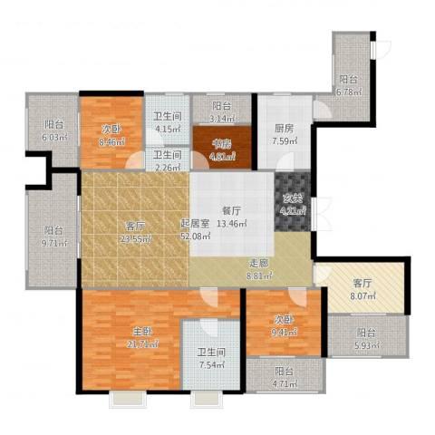 苏州世茂石湖湾4室1厅2卫1厨200.00㎡户型图