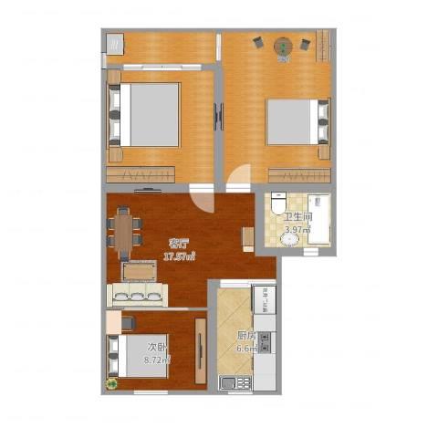 淞南五村1室1厅1卫1厨90.00㎡户型图