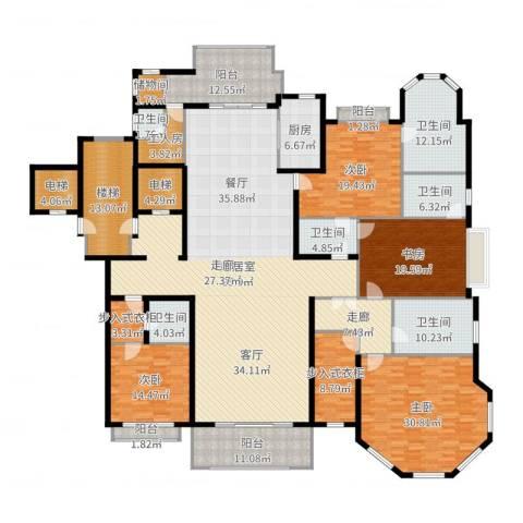 上海星河湾4室2厅6卫3厨374.00㎡户型图