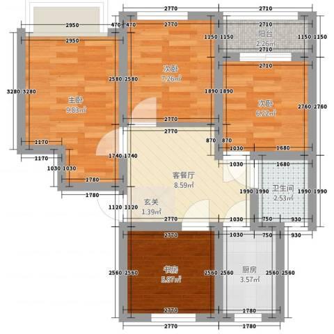西环一村4室2厅1卫1厨70.00㎡户型图