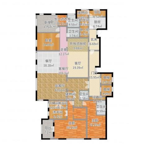 唐宁ONE3室2厅5卫1厨336.00㎡户型图
