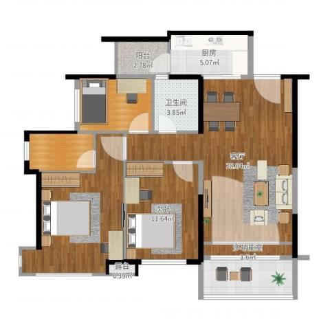 聚龙湾1室1厅4卫2厨89.00㎡户型图