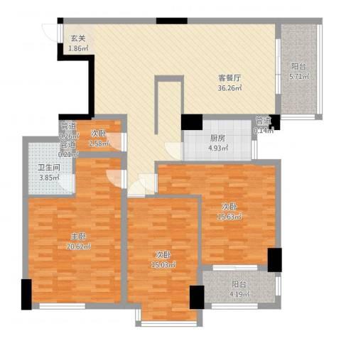 滨东康城二期4室2厅1卫1厨137.00㎡户型图