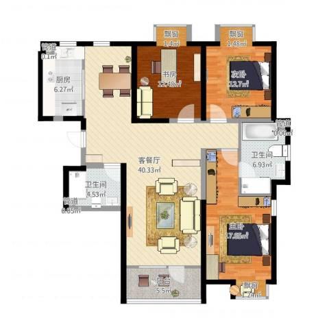 金穗花园3室2厅2卫1厨133.00㎡户型图