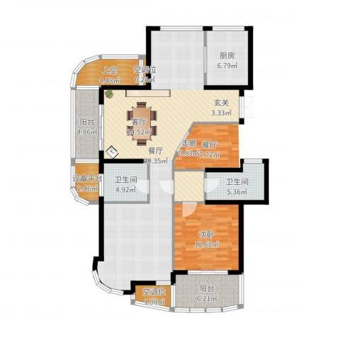 金色水岸1室1厅2卫1厨129.00㎡户型图