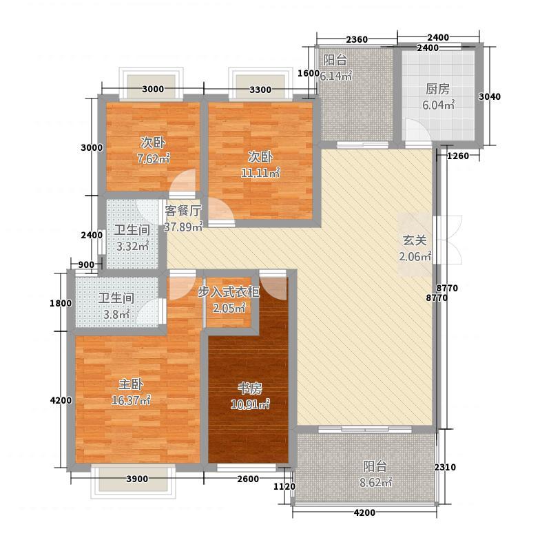 海西金色138.12㎡电梯洋房D户型