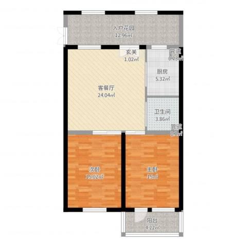亲和源温泉养老产业园2室2厅1卫1厨101.00㎡户型图