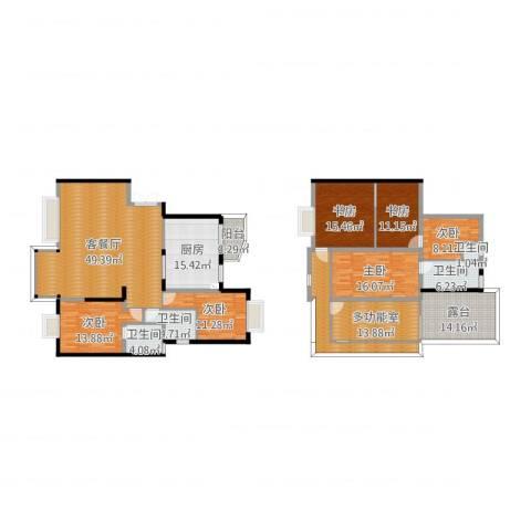 缙佳苑6室2厅4卫1厨248.00㎡户型图
