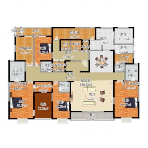 自在山5室1厅5卫2厨517.00㎡户型图