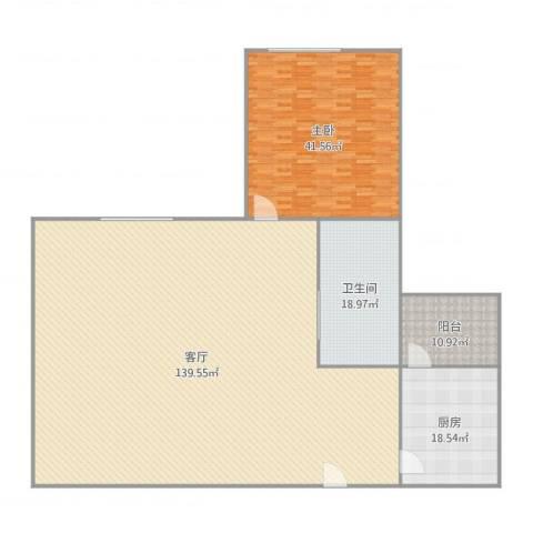丽江花园德字楼1室1厅1卫1厨287.00㎡户型图