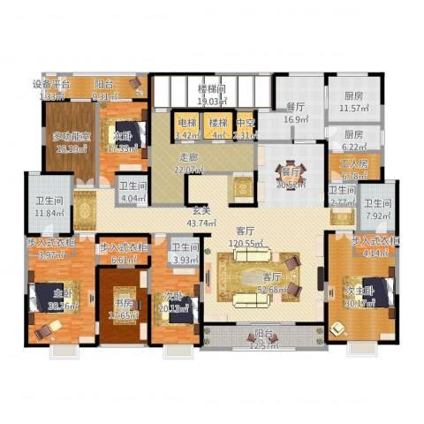 自在山4室2厅5卫2厨519.00㎡户型图