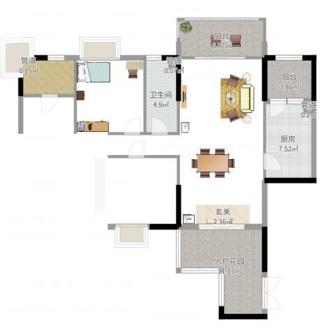 荔园悦享星醍2室2厅2卫1厨122.00㎡户型图