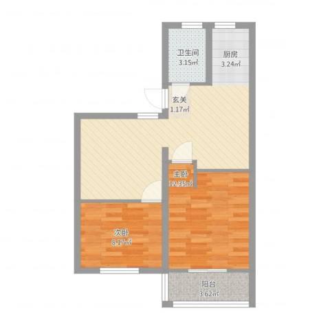 五里花苑2室2厅1卫0厨73.00㎡户型图