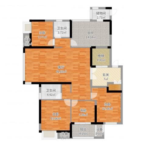 高成莱茵郡4室1厅7卫1厨158.00㎡户型图