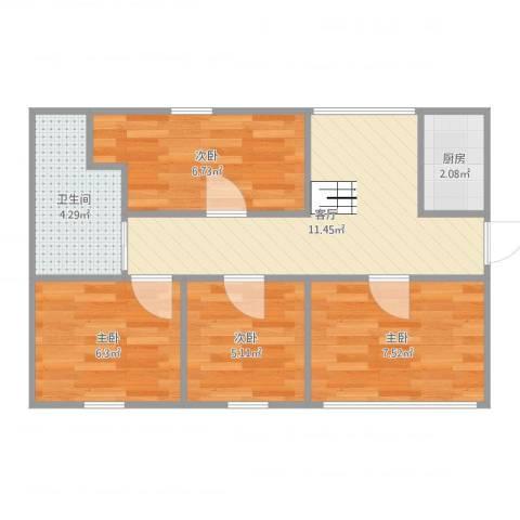 思凡南苑4室1厅1卫1厨54.00㎡户型图