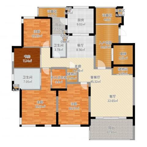 仁恒森兰雅苑二期4室2厅2卫1厨207.00㎡户型图
