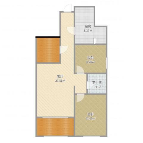 曲江千林郡2室1厅1卫1厨89.00㎡户型图