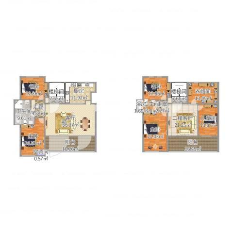 泰达风景5室1厅2卫1厨288.00㎡户型图