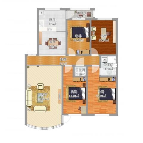 兰亭山水4室2厅2卫1厨154.00㎡户型图