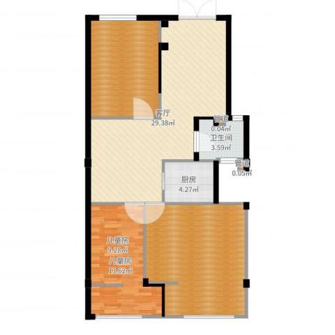 恒联锦园1室1厅1卫1厨109.00㎡户型图