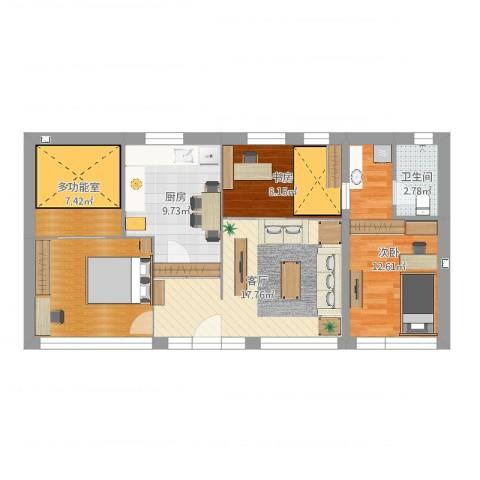 亲亲我家2室1厅1卫1厨87.00㎡户型图