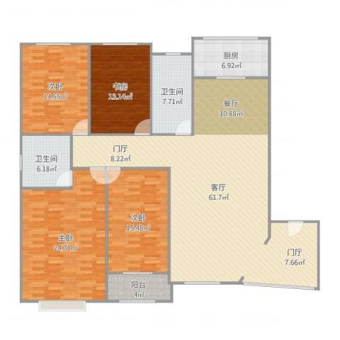 亚华桂竹花园4室1厅2卫1厨193.00㎡户型图