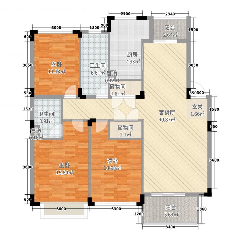 云水山庄3133.22㎡户型3室2厅2卫1厨
