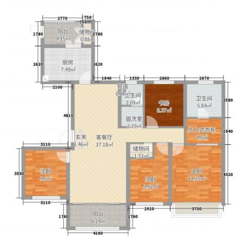 鲁商中心4室2厅2卫1厨4216.00㎡户型图